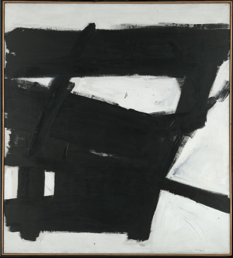Franz Kline, Wanamaker Block, 1955.Y ale University Art Gallery, Gift of Richard Brown Baker, B.A. 1935. © 2018 The Franz Kline Estate / Artists Rights Society (ARS), New York