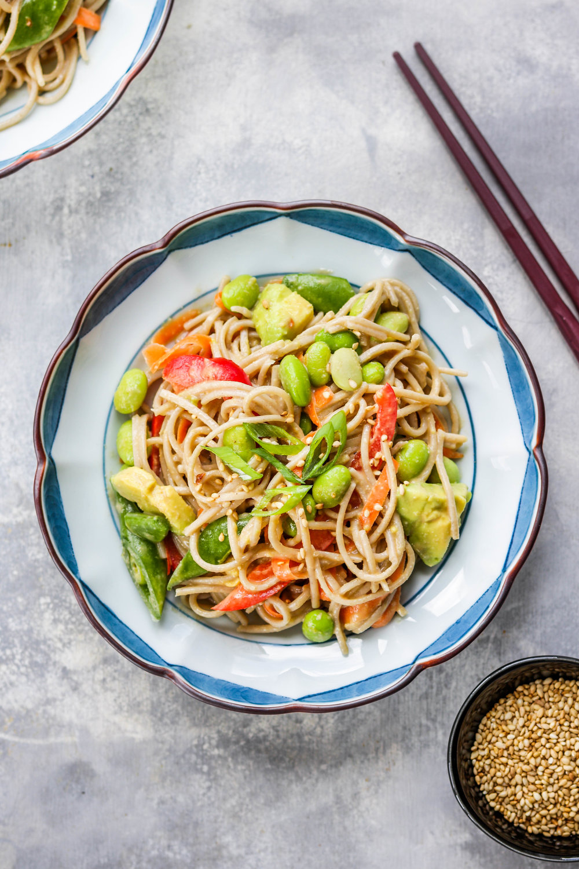 Sesame Miso Soba Noodle Salad
