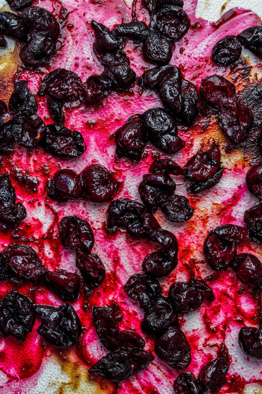 Dairy Free Balsamic Cherry Roasted Ice cream (NO CHURN)