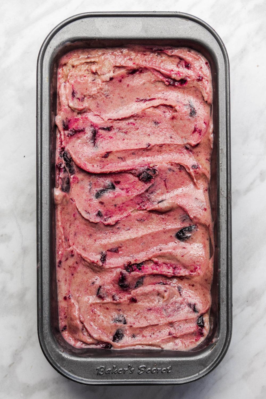 Dairy Free Balsamic Cherry Roasted Ice cream (NO CHURN) 4