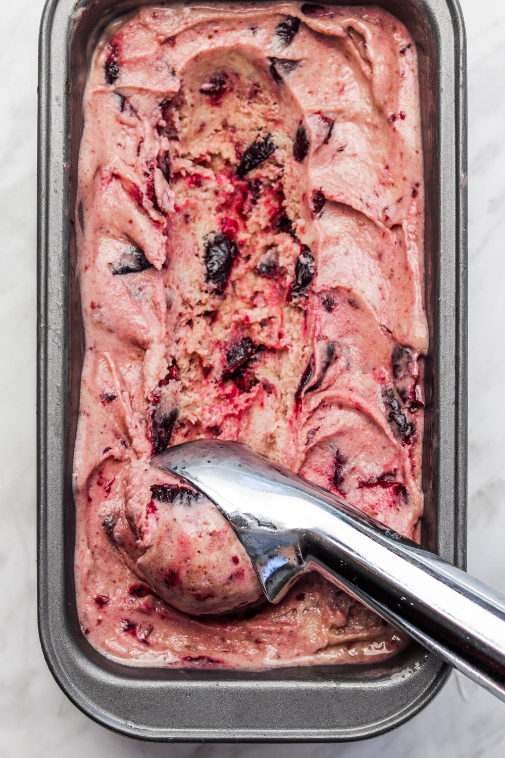 Dairy Free Balsamic Cherry Roasted Ice cream (NO CHURN)