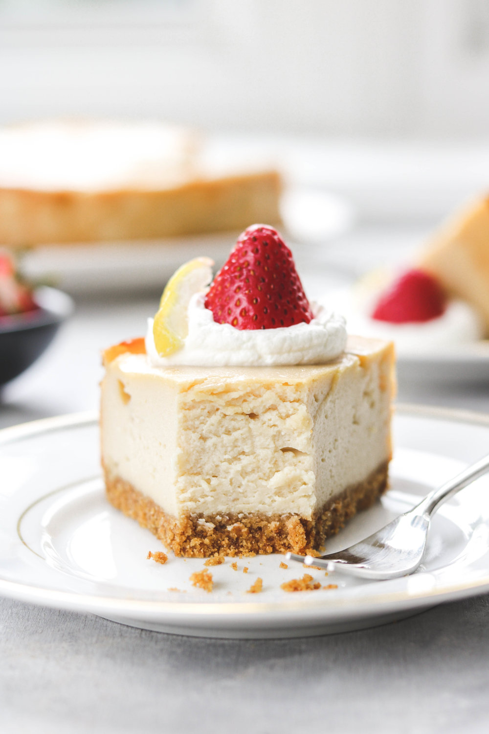 BAKED VEGAN CHEESECAKE NUT FREE