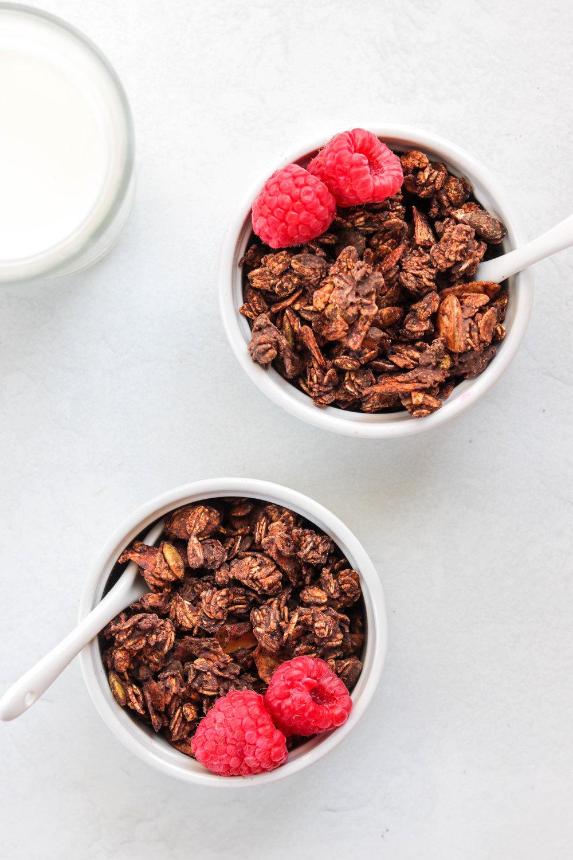 Chocolate Espresso Granola with 2 raspberries  (1 of 3).jpg