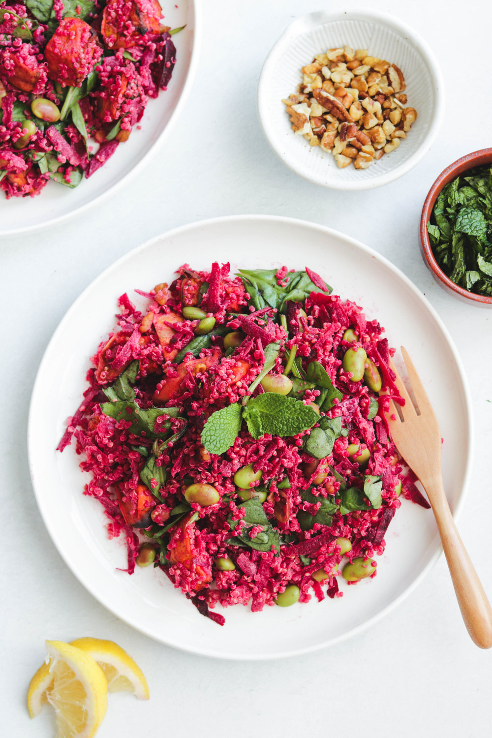 Beet Salad with Quinoa and Sunflower Seed Dressing