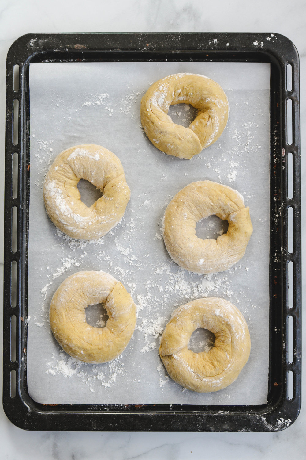 Kabocha Bagels with Maple Cinnamon Cream Cheese in Bowl on board Main (2 of 4).jpg