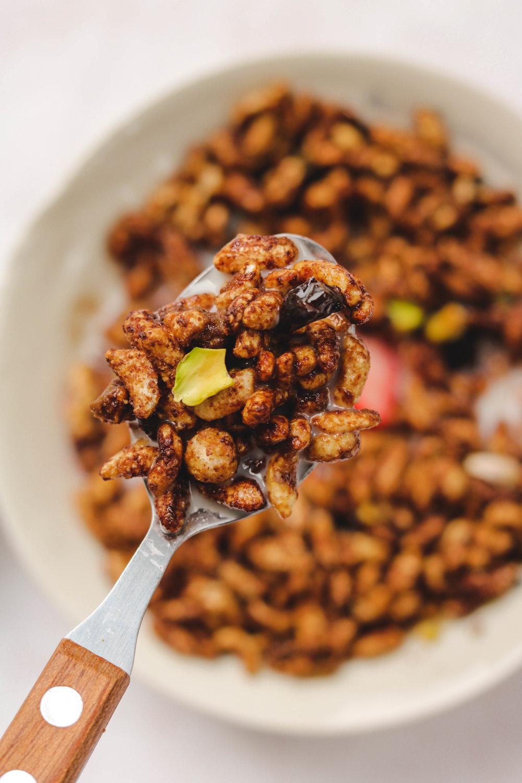 DIY Vegan Chocolate Hazelnut Cereal Closeup Cereal (1 of 1).jpg