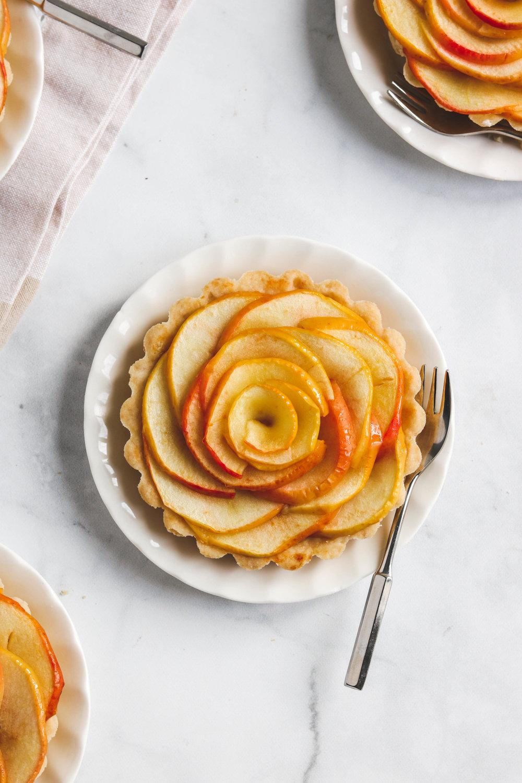 Vegan Apple Rose Tartlets