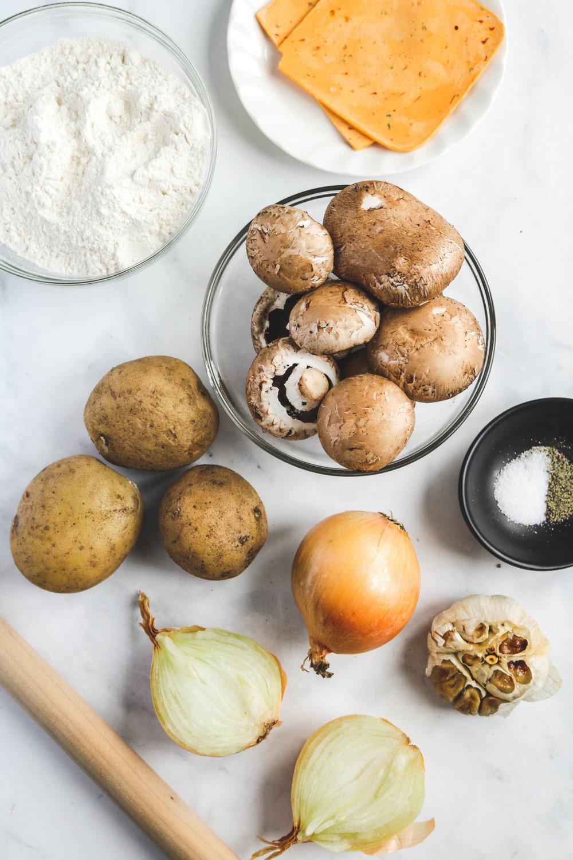 Vegan Cheesy Caramelized Onion and Potato Pierogies
