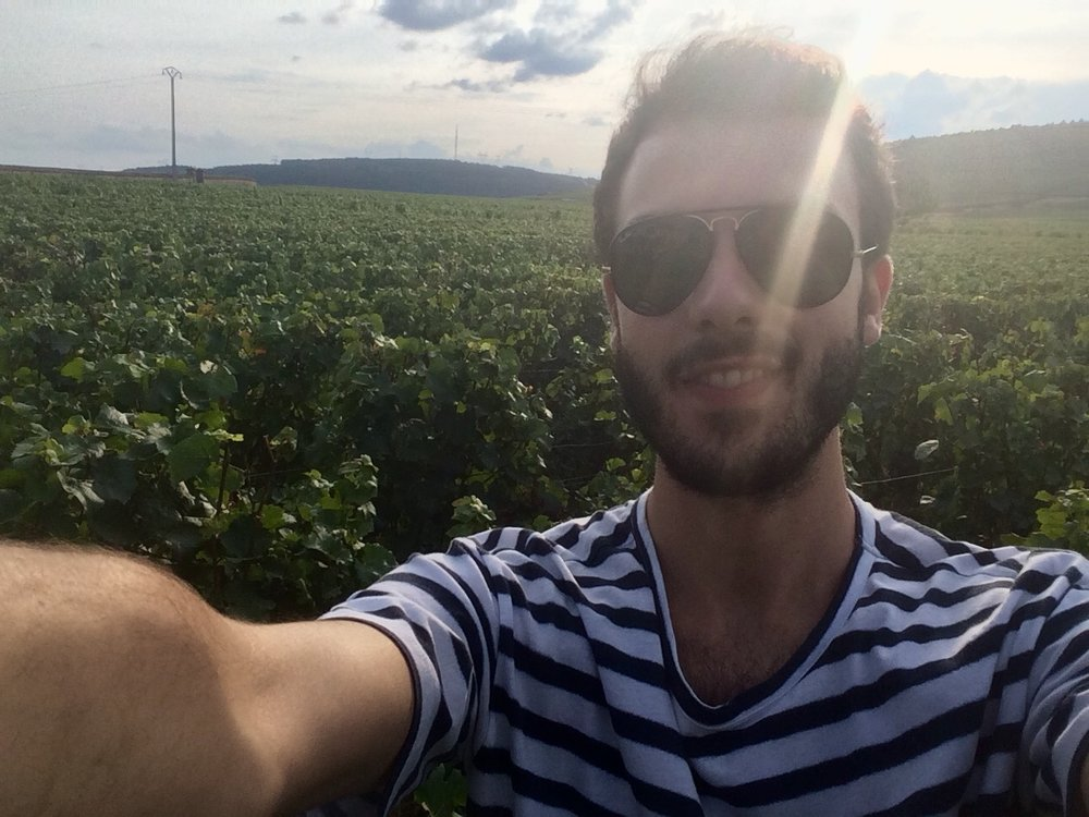 Eric Colosio – EVENT COORDINATOR - Eric visiting vineyards in Burgundy
