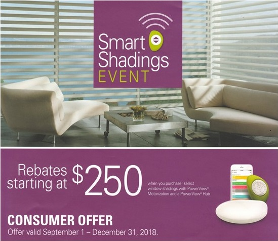 Mail-in Rebate offer. Purchase a minimum of 3 Silhouette  ®  , Pirouette  ®  , Duette  ®  , or Sonnette  ®   with Powerview  ®   Motorization and a Powerview  ®   Hub and receive a $250 rebate. Receive an extra $50 for each additional Silhouette or Pirouette purchased , or $30 for each addtional Duette or Sonnette purchased.