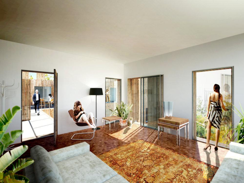 Interieur impressie appartement Veemarkt