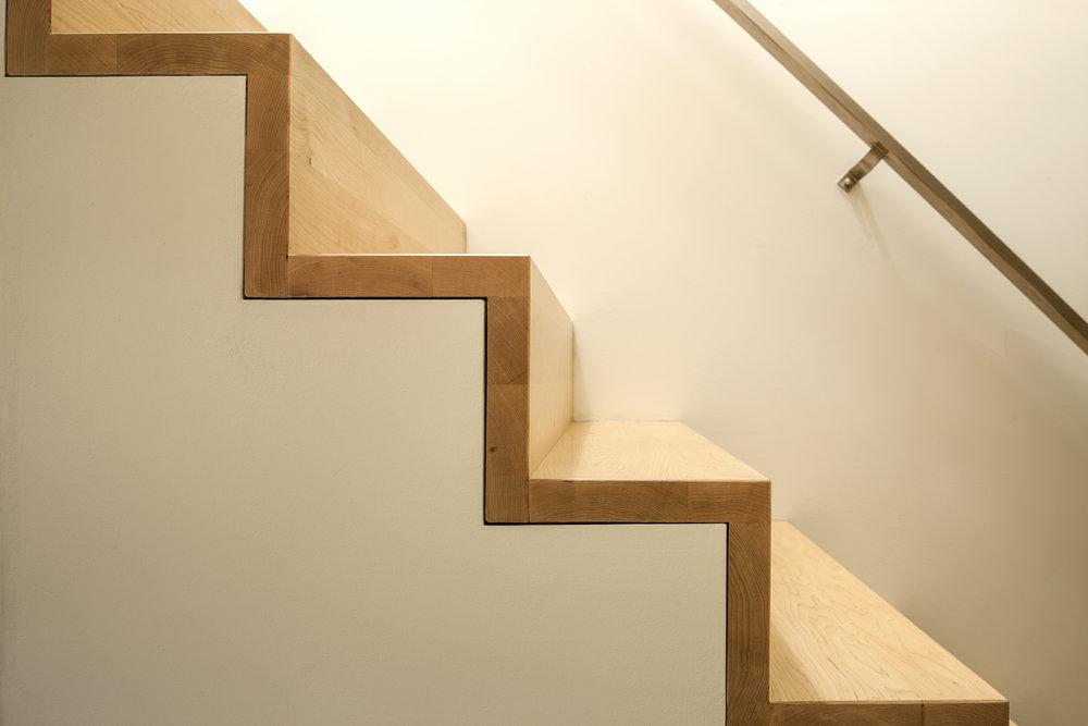 Detail trap houten tredes
