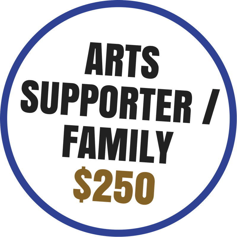 Arts Supporter benefits include:  -Recognition on the Arts Council website and newsletter -Voting rights at the Annual Meeting -20% discount on Artsplosion! Camps for kids -2 VIP passes to KIDD's Corner at Ebb & Flow Festival