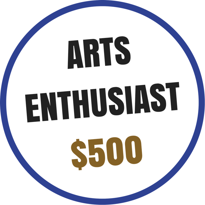 Arts Enthusiast benefits include:  -Recognition on the Arts Council website and newsletter -Voting rights at the Annual Meeting -20% discount on Artsplosion! Camps for kids -2 VIP passes to KIDD's Corner at Ebb & Flow Festival -10% discounted rental at Arts Council venues -Advance ticket purchase opportunity for River City Jazz Master Series