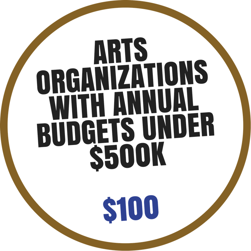 Artist Organizations with budgets under $500K Membership benefits include:  -Discounted event space rental -Arts Market booth discount -Voting rights at Annual Meeting -4 Arts Council e-blast promotions per year -Discounted professional development seminars -Listed on Arts Council website with link to member's website -Invitation to Networking Events hosted by Arts Council -Complimentary admission to Arts Summit -Events included on Community Arts Calendar
