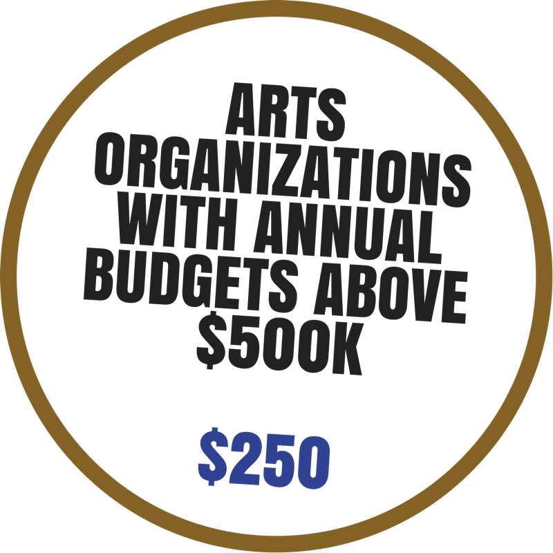 Artist Organizations with budgets above $500K Membership benefits include:  -Discounted event space rental -Arts Market booth discount -Voting rights at Annual Meeting -4 Arts Council e-blast promotions per year -Discounted professional development seminars -Listed on Arts Council website with link to member's website -Invitation to Networking Events hosted by Arts Council -Complimentary admission to Arts Summit -Events included on Community Arts Calendar