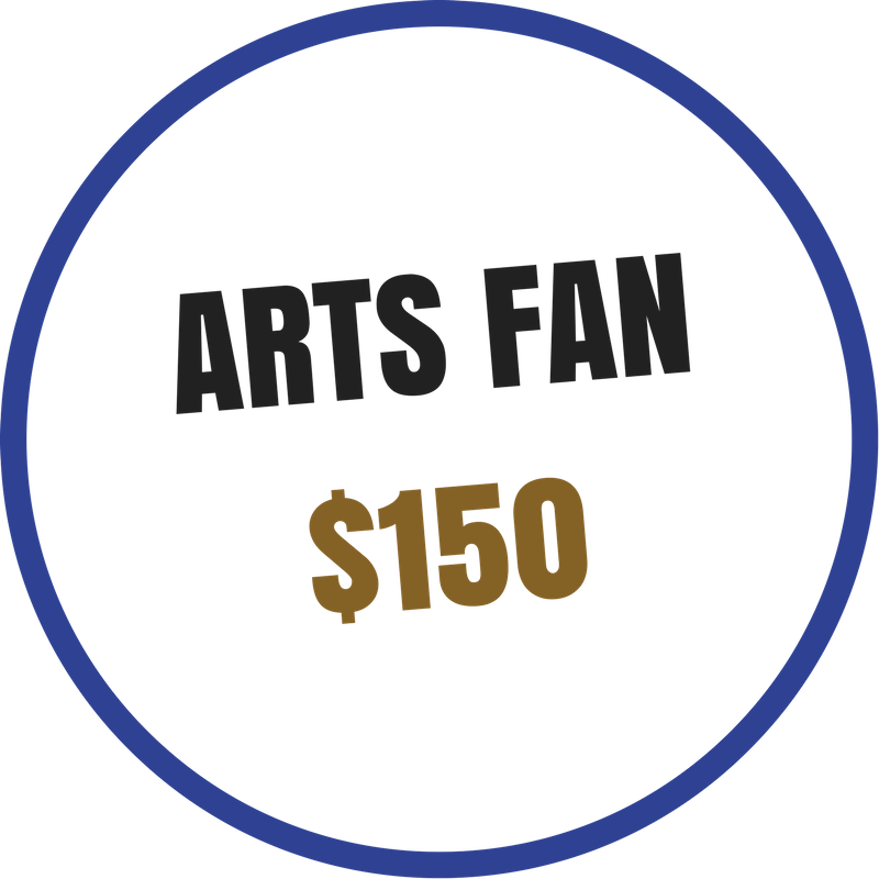 Arts Fan benefits include:  -Recognition on the Arts Council website and newsletter -Voting rights at the Annual Meeting