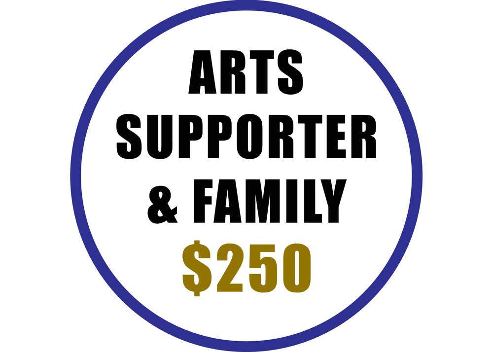 Arts Supporter benefits include:  -Recognition on the Arts Council website  -Voting rights at the Annual Meeting -20% discount on Artsplosion! Camps for kids -2 VIP passes at Ebb & Flow Festival