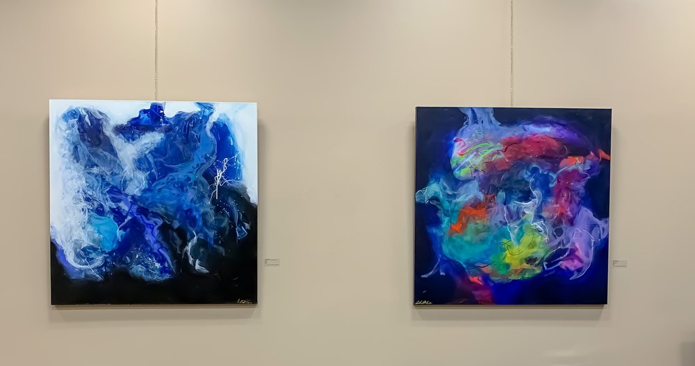 Artworks currently on view at the Baton Rouge Parish Attorney's office.