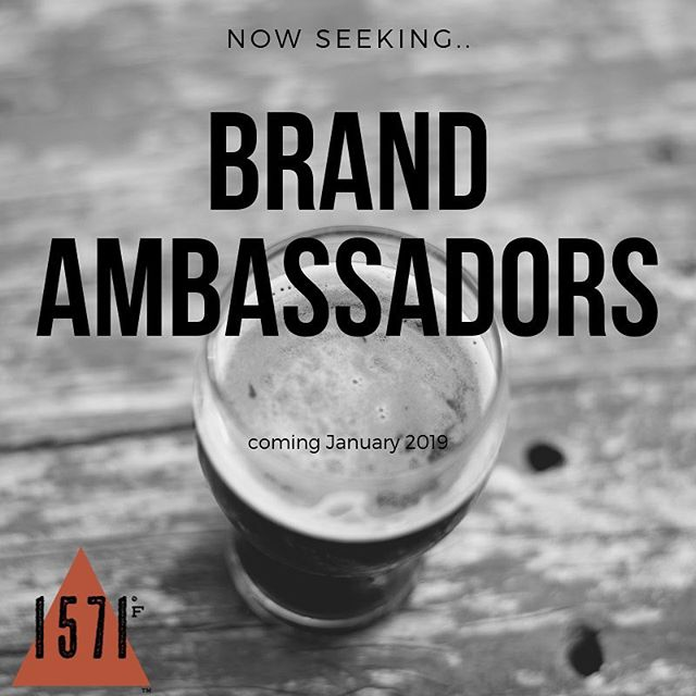 Calling all Campfire Brew Masters! 1571F is now looking for Brand Ambassadors for the new year. To learn more or want to fill out an application click the link below.  http://sgiz.mobi/s3/Become-a-Campfire-Brew-Master  #beercaramelizer #brandambassadorswanted #brandambassador #beerlover
