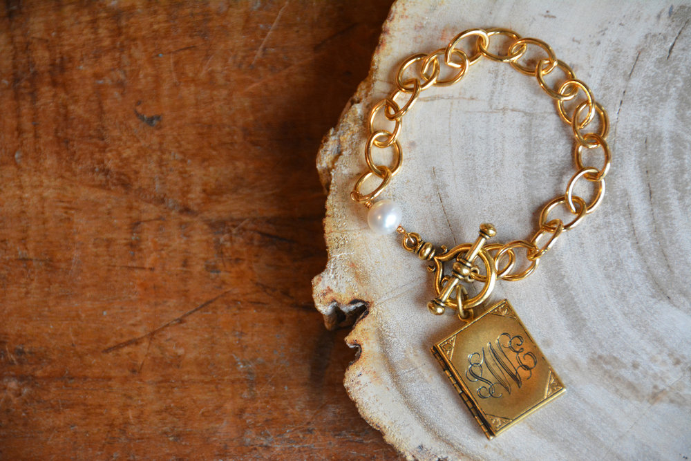 Book Locket Bracelet