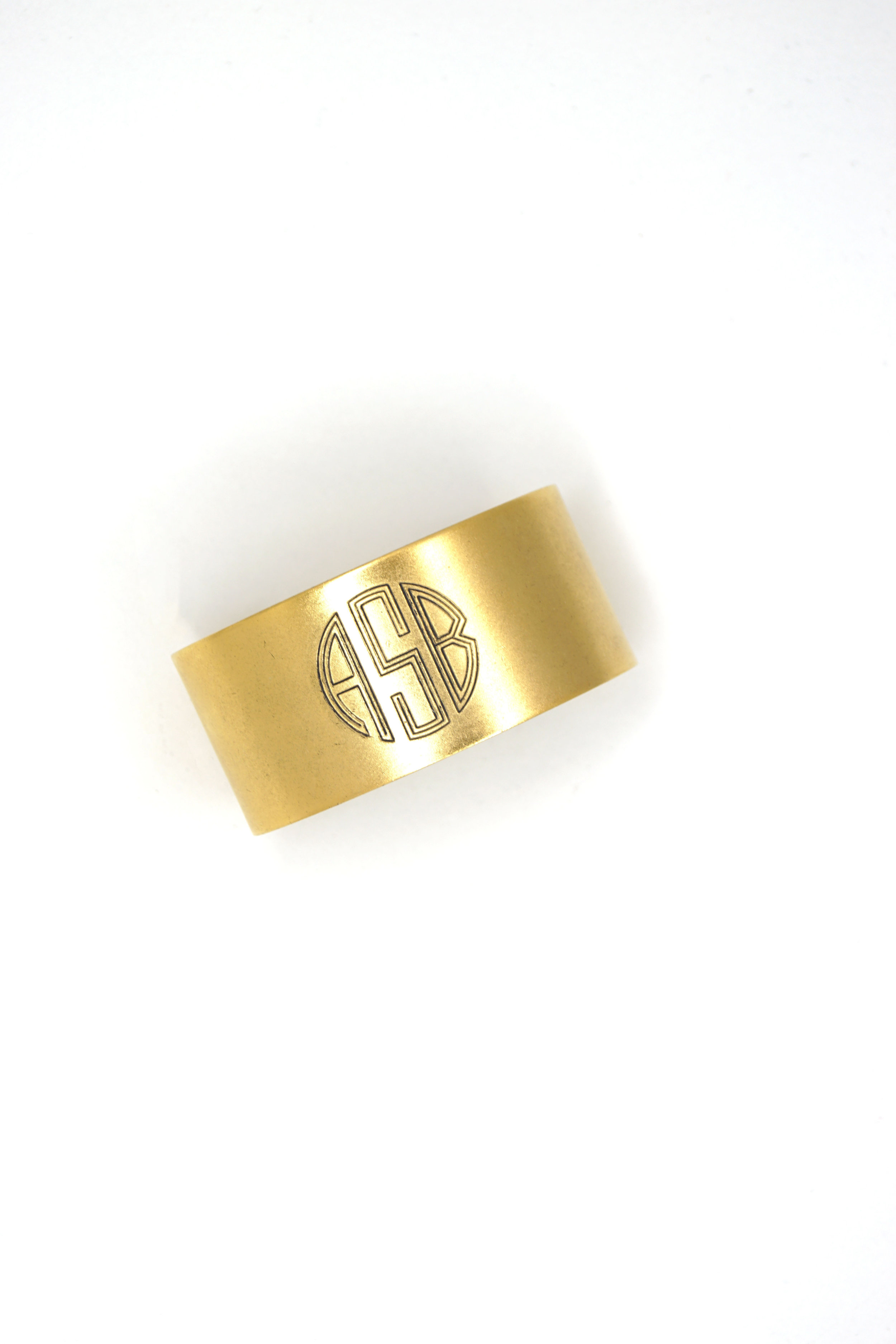 d9ec1b9bc72 Custom Engraved Wide Monogram Cuff Bracelet