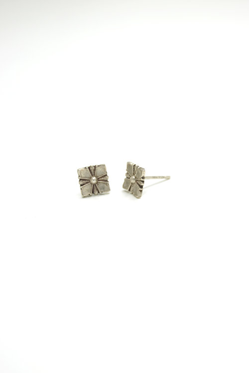 e24d91a4a silver stud earring, sterling silver stud earring, stud earring, sterling  silver flower stud