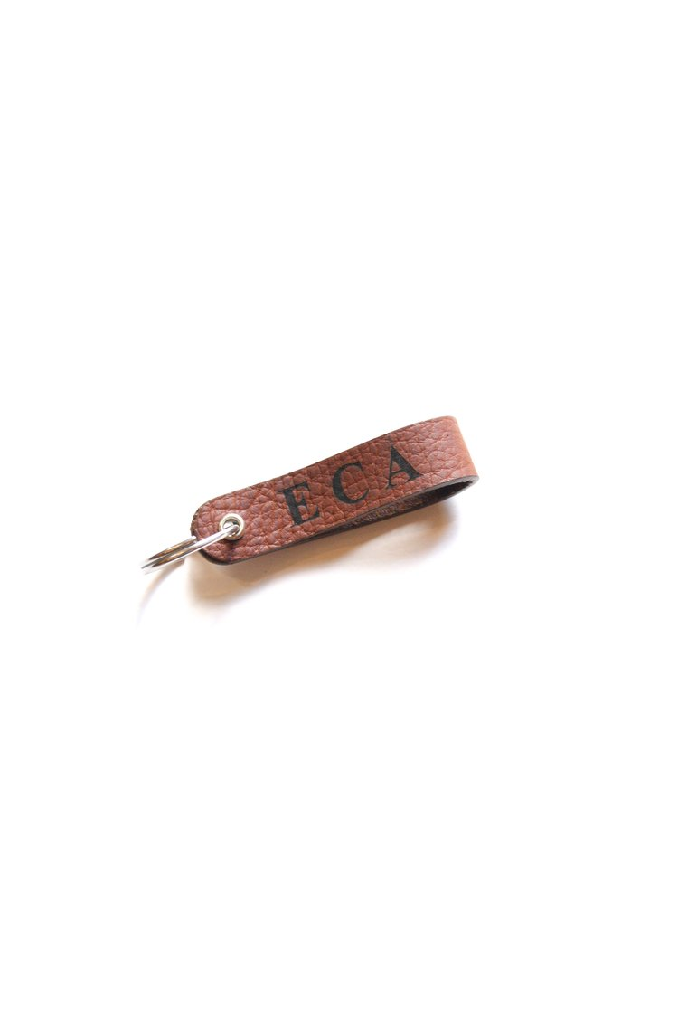 Leather Key Fob Engraved with Initials