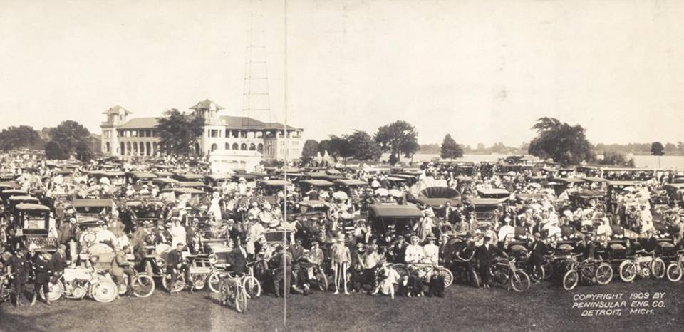 Photo Library of Congress, Glidden Automobile Tour on Belle Isle