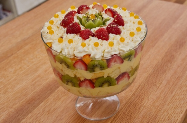 Mango Kiwi Strawberry Trifle