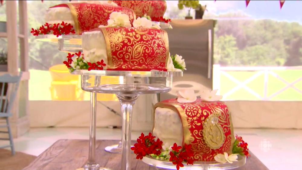 Indian sari wedding cake