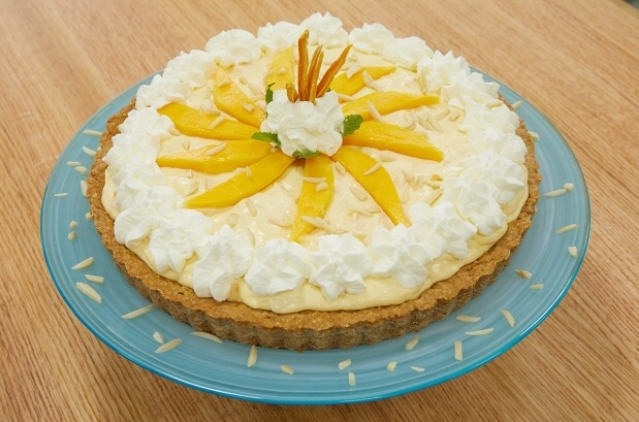 Mango Ginger Cream Pie