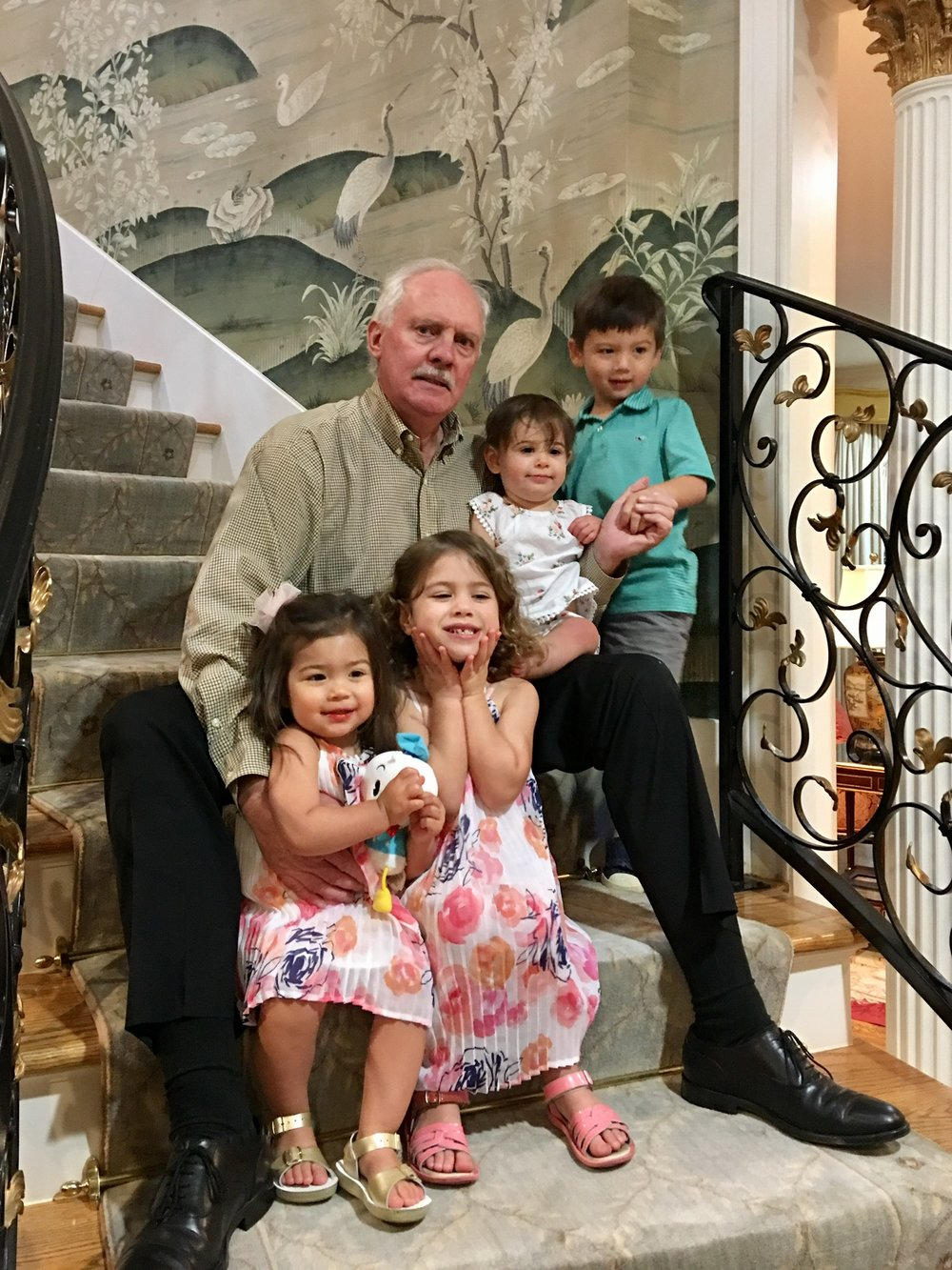 Edward Ziegler with his youngest grandchildren