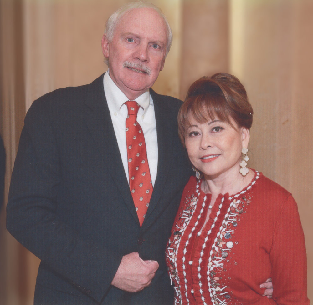 Edward Ziegler and his wife, Rini Ziegler. Rini is a philanthropist who is currently engaged in projects to raise funds for the Houston Grand Opera and Houston Symphony.