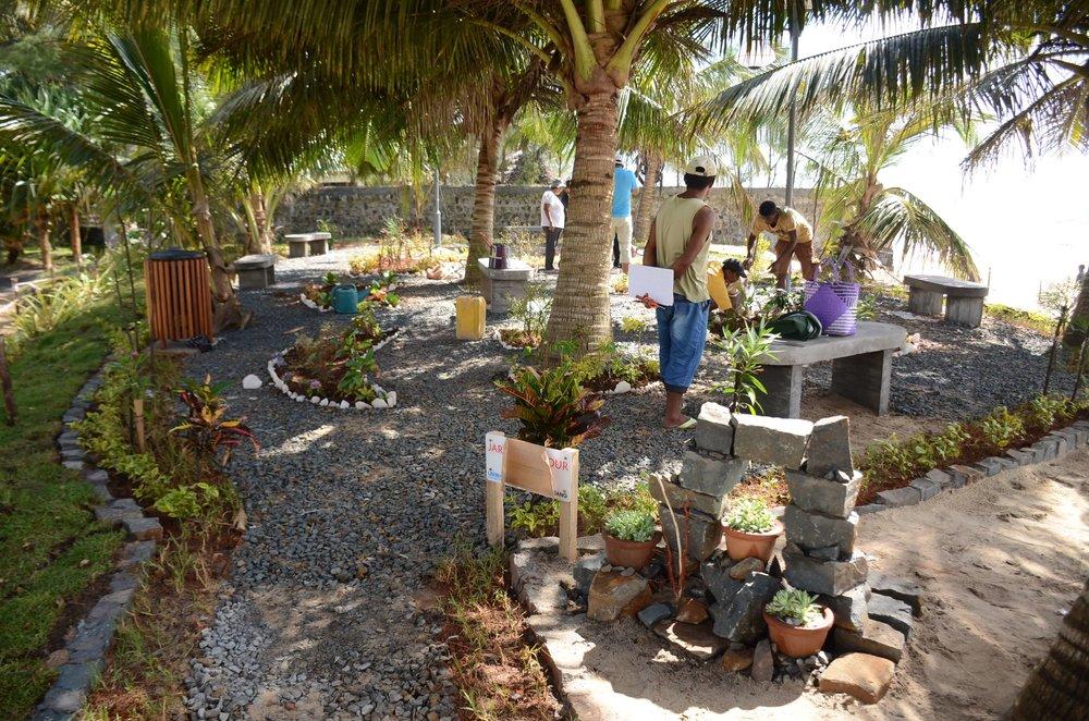 New garden on the Manakara waterfront Credit: Lems Andriamihaja/UN-Habitat