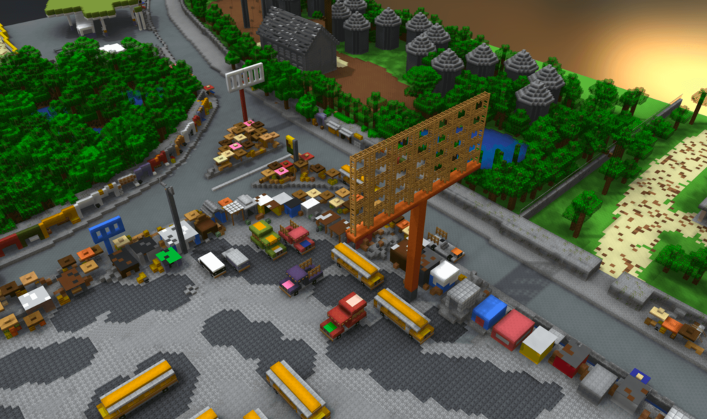 3D Minecraft Model of Community-Designed Public Space, Bon Repos, Haiti