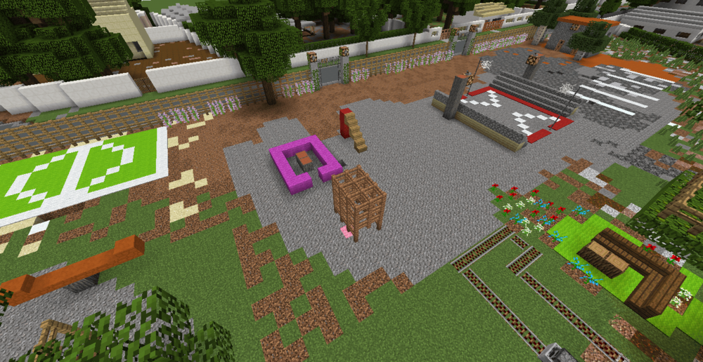 Playground design created in Minecraft at Block by Block Workshop, Accra, Ghana