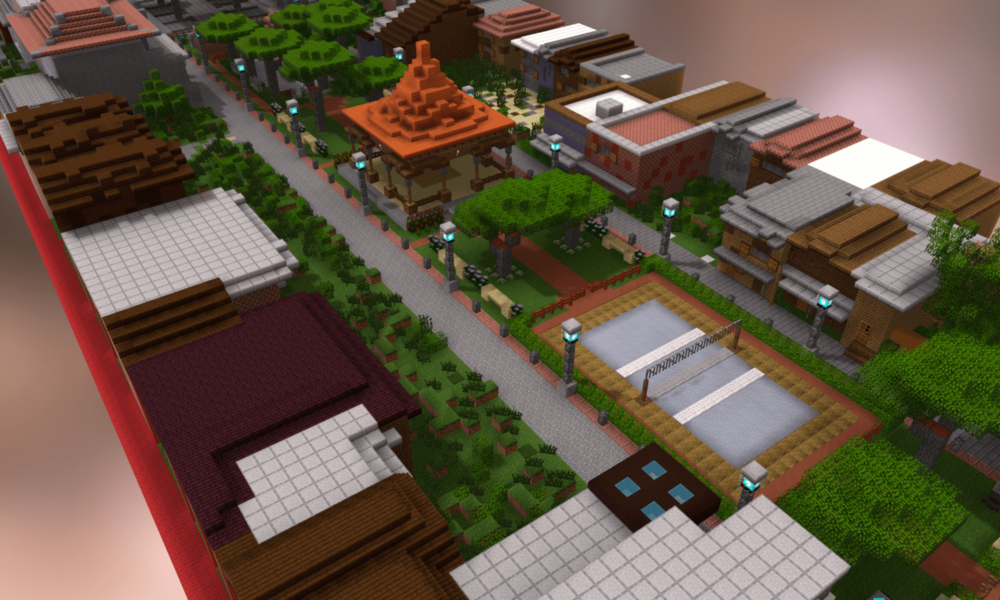 3D Minecraft Model of Community-Designed Public Space in Surabaya, Indonesia