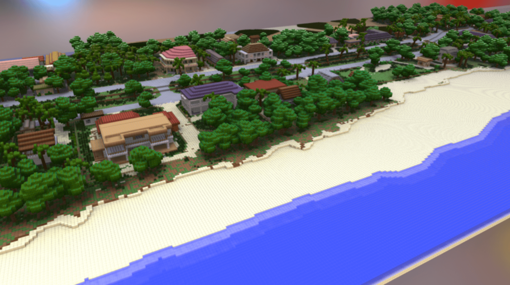 3D Minecraft Model of the Manakara waterfront