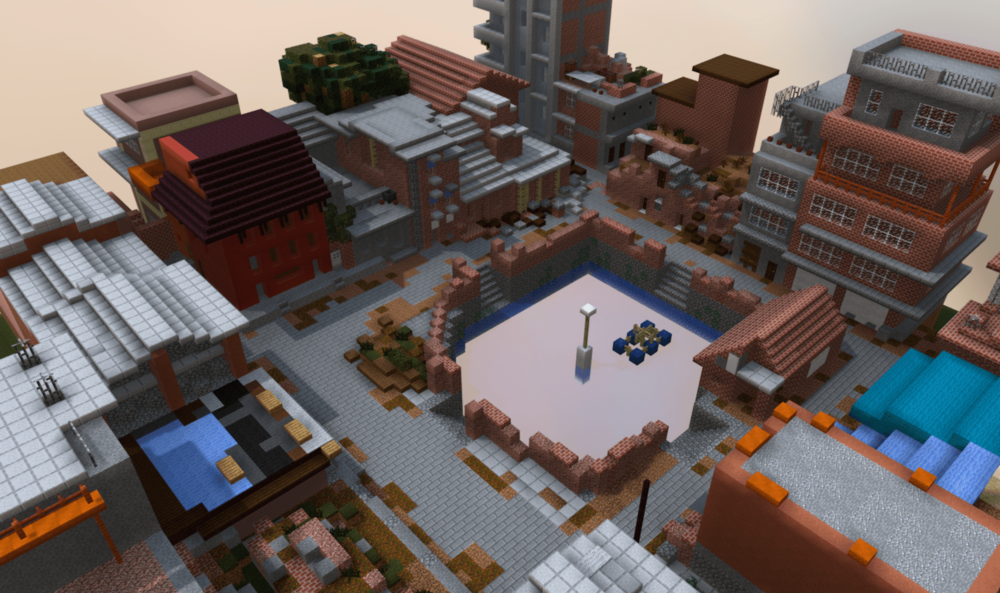 3D Minecraft Model of Community-Designed Public Space, Dey Pukhu, Nepal