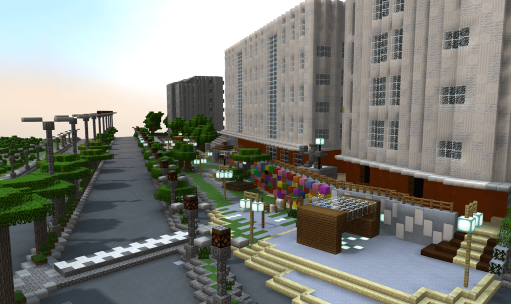 3D Minecraft Model of Community-Designed Public Space in Pristina, Kosovo
