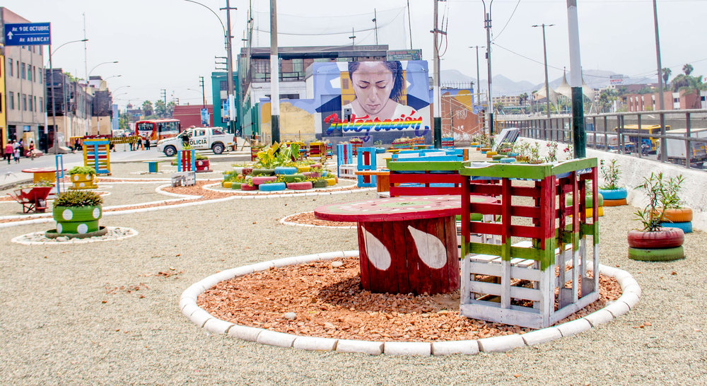 Public space micro-intervention, Lima Credit: Jairo Rosales
