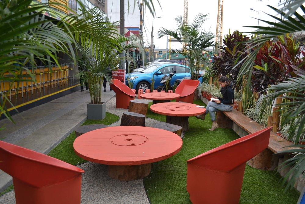 Public space micro-intervention, Parque Las Artes, Lima Credit: Municipalidad San Borja