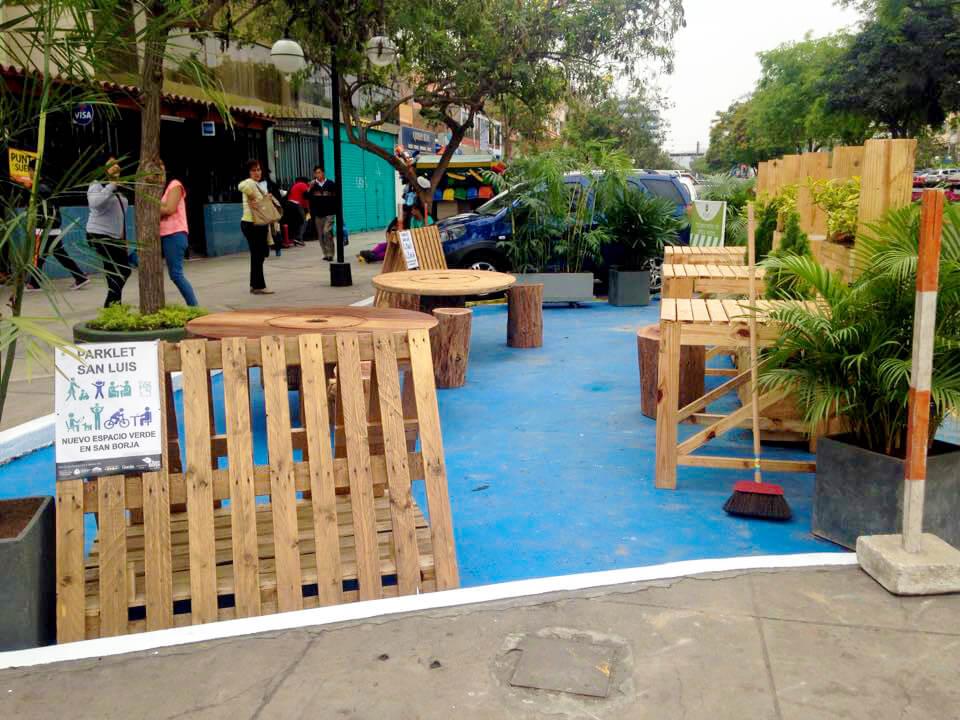 Parklet San Luis, Lima Credit: Ocupa tu Calle