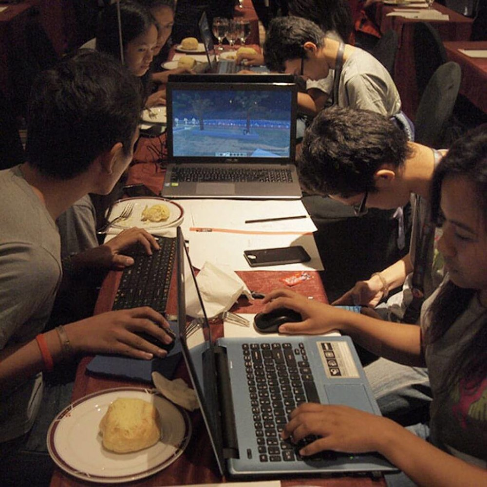 Minecraft competition, Manila Credit: Pontus Westerberg/UN-Habitat