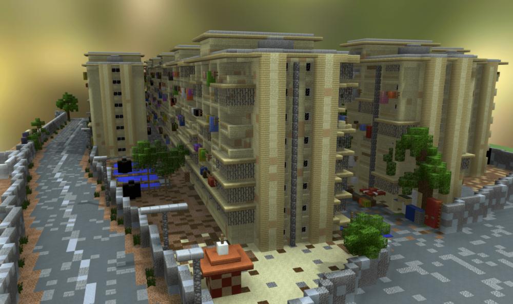 3D Minecraft Model of Community-Designed Public Space, Mumbai