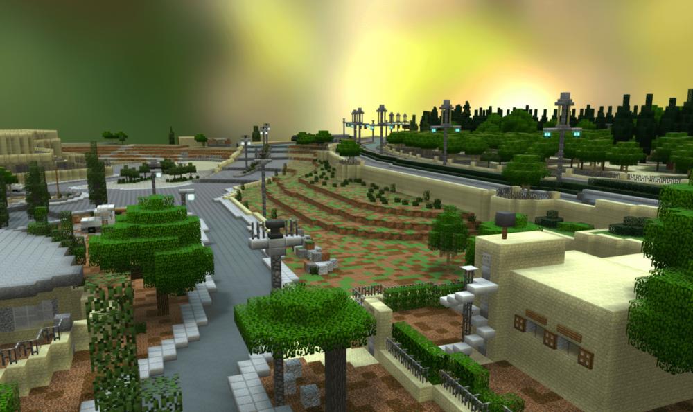 3D Minecraft Model of Community-Designed Public Space, Palestine