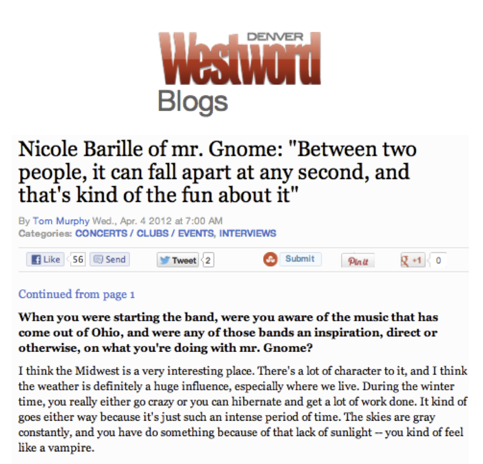 Denver Westword - InterviewApril 2012READ MORE