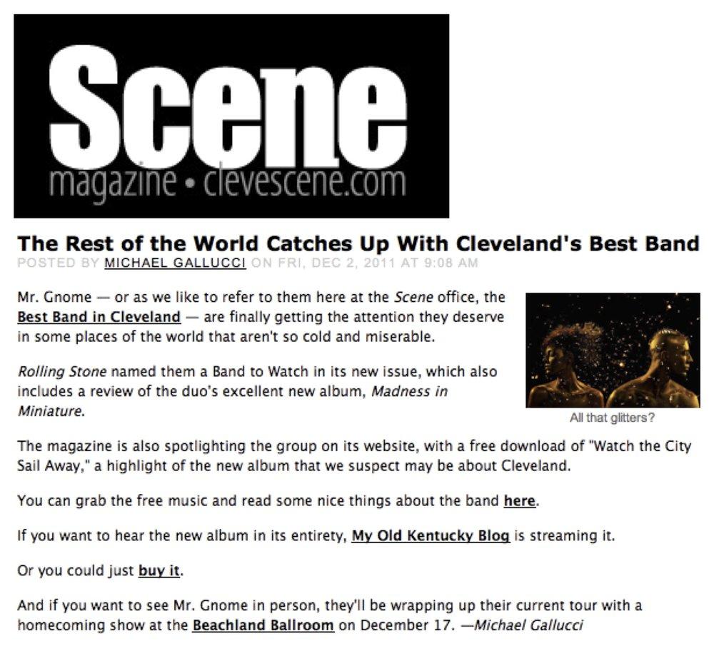 Scene Magazine - Show PreviewDecember 2011