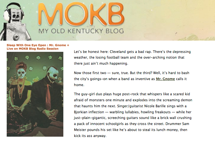 My Old Kentucky Blog - Live Blog Radio SessionDecember 2009READ MORE